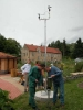 Aufbau Wetterstation in der Umweltstation Waldsassen