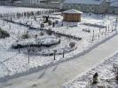 Garten im Winter der Umweltstation Waldsassen